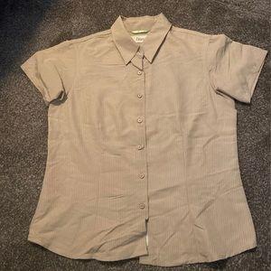 Khaki shirt sleeve button down